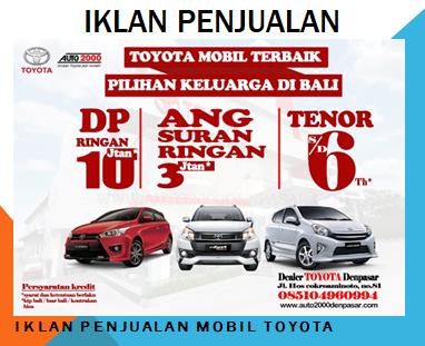 contoh teks iklan penjualan mobil