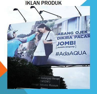 Contoh iklan produk aqua
