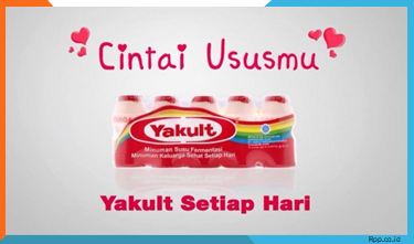 Iklan Yakult menggunakan slogan