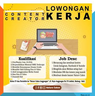 Iklan lowongan kerja content creator